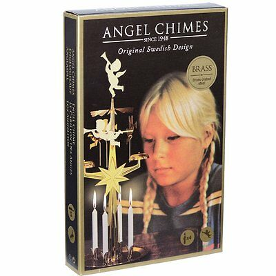 Angel Chimes - Original Swedish Christmas Decoration - With 4 Candles