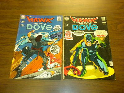 THE HAWK AND THE DOVE #3 and #5 DC Comics 1968 lot