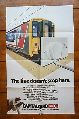 1986 Network SouthEast Original Capitalcard Railway Poster