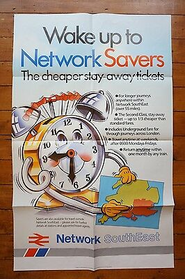 1986 Network SouthEast Original Network Savers Railway Poster