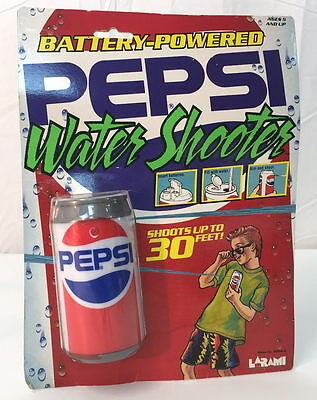 1989 LARAMI Battery Powered PEPSI-COLA CAN WATER SHOOTER~ super soaker