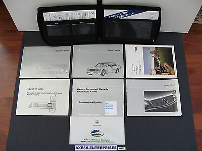 96 1996 Mercedes W140 S S320 S420 S500 Owners Manuals Driver Books Set Case M132