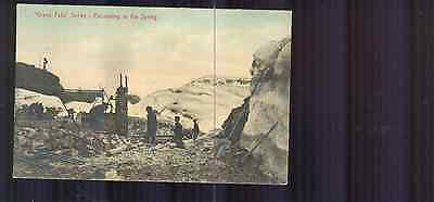 Rare Newfoundland Postcard Grand Falls Excavating in the Spring PC9