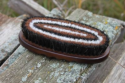 Professionals Choice Wood Small Oval Horsehair Brush W225