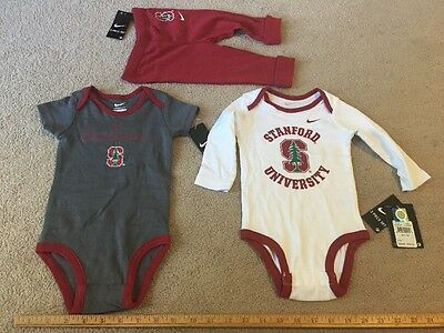 Nike Baby Infant 3 Piece Set 6/9 Months Stanford Cardinal New wTags Shirts Pants