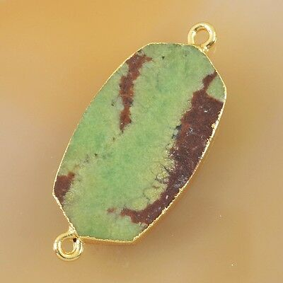 Australia Natural Chrysoprase Connector Gold Plated T026729