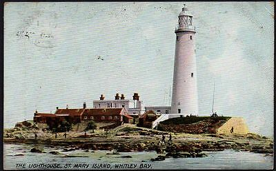 Postcard - Northumberland - The Lighthouse, St. Mary Island, Whitley Bay