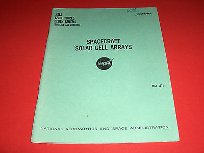 1971 Nasa Space Vehicle Design Control Spacecraft Solar Cell Arrays Raumschiff