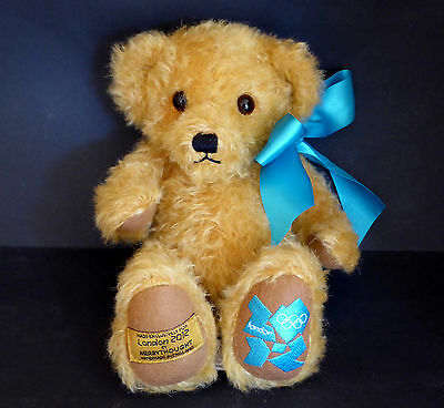 Merrythought Teddy Bear London Olympics Limited Edition 2012 Mohair Embroidered