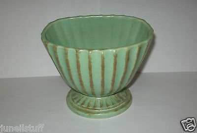 1961 Hull Pottery # 45 Mint Green Color Capri Footed Planter Vase