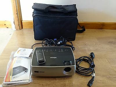 InFocus W260 IN26+ DLP Projector With Carry Case and VGA and AV Cables