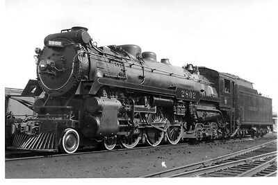 LL610 RP 1939/60s? CP CANADIAN PACIFIC RAILROAD ENGINE #2802 MONTREAL QUEBEC