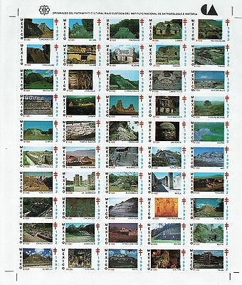 1992. Semi-postal. Ruins. Full MNH sheet. Excel.condition.