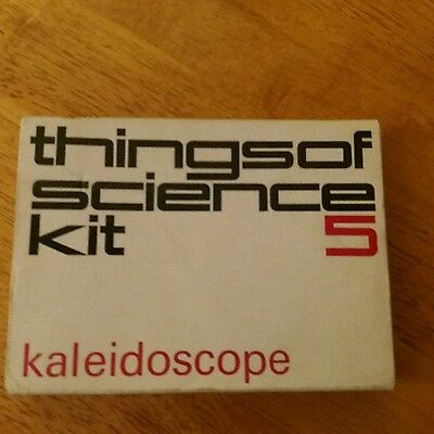 VINTAGE  1960'S experiment CAMBRIDGE THINGS OF SCIENCE KIT NUMBER 5 KALEIDOSCOPE