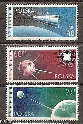 POLONIA Poland yv # 992/994 ** MNH set. Space / Asrofilatelia