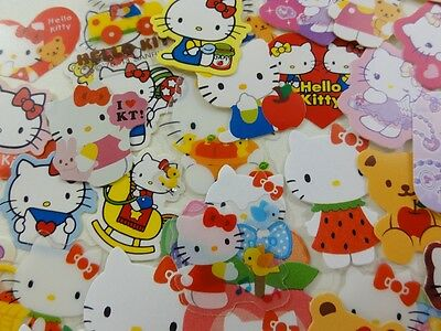 50 Sanrio Hello Kitty flake sack stickers cute kawaii collectible HTF special