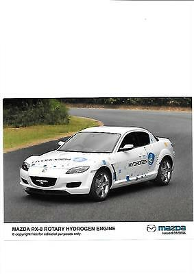 """Mazda Rx-8 Rotary Hydrogen Engine Press Photo """" Brochure  Related"""" March 2004"""