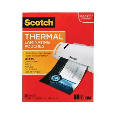 Scotch Thermal Laminating Pouches, 8.9 x 11.4-Inches, 3 mil thick, 50-Pack New