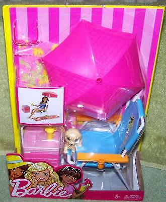 Barbie POOLSIDE FUN Playset New