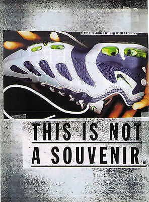 1996 Nike 'Air Max' Michael Johnson Athletic Shoes Vintage Print Advertisement