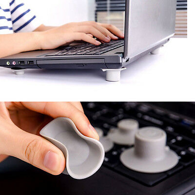 4Pc Utility PVC Easy Removable Laptop Stand/Notebook Cooling Pad Non-slip Mats