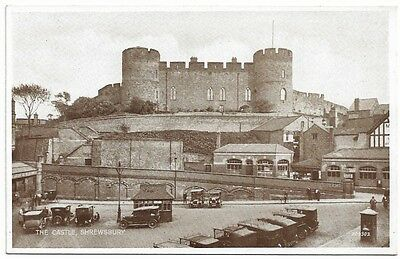 [1424] Shropshire B/W Postcard The Castle Shrewsbury