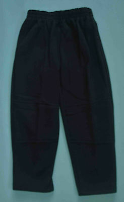 NEW Fleece Pants unisex School Uniform Double Knee Black Size 5,6,8,10,12,14,16