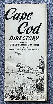 1949 CAPE COD DIRECTORY Massachusetts HOTELS Businesses HYANNIS Chatham HARWICH