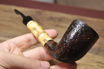 Road Town pipe,Briar wood pipe  Series B-Bamboo---- unsmoked