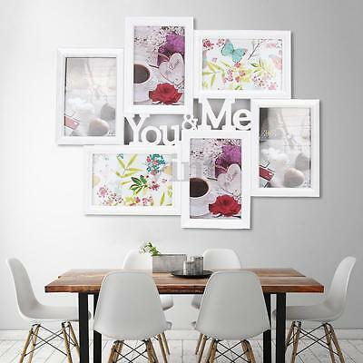 6'' Modern Multi Photo Frames You&Me Family Picture Wall Home Decor Wedding Gift