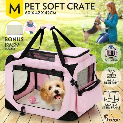 Pet Carrier Portable Soft Crate Cage Dog Cat Travel Bag Kennel Foldable Medium