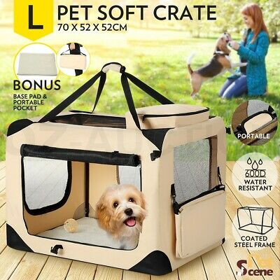 Large Foldable Pet Carrier Portable Soft Crate Cage Dog Cat Travel Bag Kennel