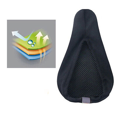 Bike Bicycle Silicone Saddle Seat Cover Cushion Soft Pad 3D Multicolor