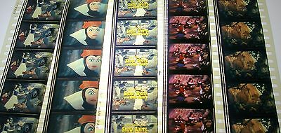 Disney's-Snow White and the 7 Dwarfs   Rare Unmounted 35mm Film Cells - 5 Strips