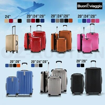 2pc 3pc Luggage Suitcase Trolley Set TSA Carry On Bag Hard Case Lightweight NEW
