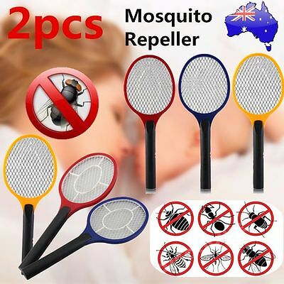2X Electric Practical Insect Bug Fly Mosquito Zapper Swatter Killer Racket newU