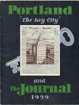 1929 Travel Guide PORTLAND AND THE JOURNAL Oregon
