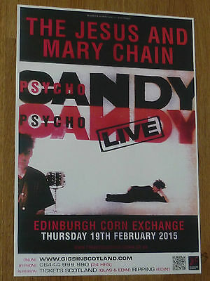 The Jesus And Mary Chain Edinburgh 2015 concert tour gig poster