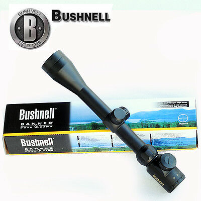 Bushnell Banner Short Rifle Scope 3-9x40 Red/Green Illuminated Reticle Sight New