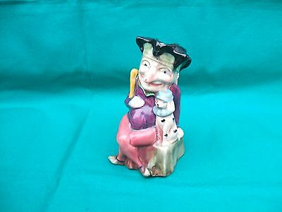 Old Melba Ware Longton Mr Punch & His Dog Ceramic Toby Jug  c 1950s