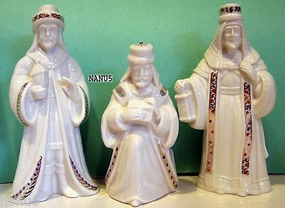 LENOX Nativity CHINA JEWELS 3 KING SET Balthazar Melchior Gasper NEW in BOXES