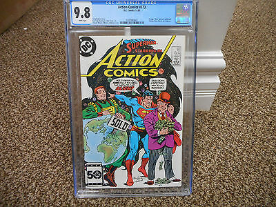 Action Comics 573 cgc 9.8 1st appearance of M.A.S.K. Kenner figure MINT DC 1985