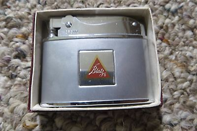 Blatz beer logo advertising flat top Crown Superior Quality lighter