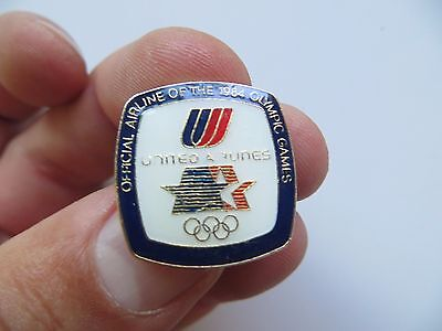 Advertising Pin,official Airline Of The 1984 Olympic Games,united Airlines Pin
