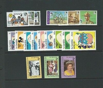 Gambia 18 UMM Sets (See Below for Details) Cat £28+