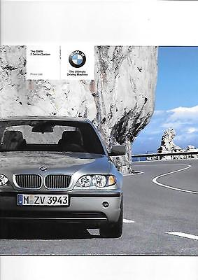 Bmw 3 Series Saloon Including Se And Sport Models Price List Brochure 2004 2005