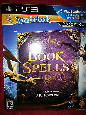 PS3 Wonderbook Book of Spells Bundle w/ PS Move Controller  NEW Playstation 3