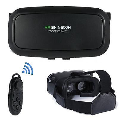 VR SHINECON 2.0 VirtualReality 3D Glasses Headset+Remote For iPhone Samsung O6J8