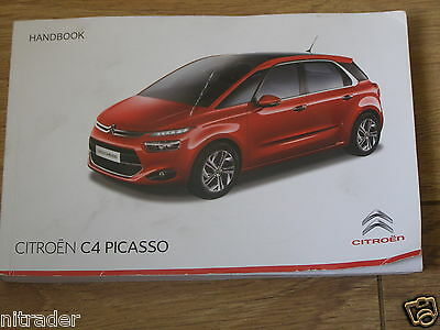 Citroen C4 Picasso / Grand Picasso Owners Manual Handbook  2013 - 2015