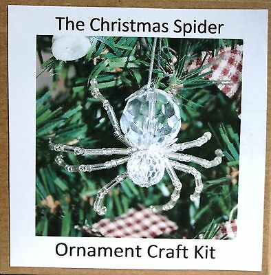 The Legend of the Christmas Spider Beading Ornament Kit. Makes 3. Silver